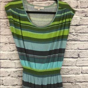 Loft casual striped dress